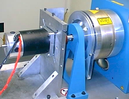 The a40 300 being tested on a dynamometer for Electric motor load testing equipment